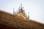 Detail of roof on Buddhist temple, signifying royal patronage. — Stock Photo