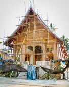 A temple sim under renovation in Luang Prabang, Laos. — Stock Photo