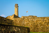Ramparts and clock tower of Galle Fort. — Stock Photo