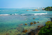 Coastline north of Galle, Sri Lanka. — Stock Photo