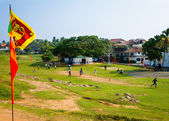 Amateur cricket game inside Galle Fort. — Stock Photo