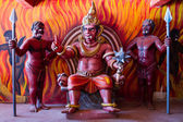Sculpture of hell at Wewurukannala Temple. — Foto de Stock
