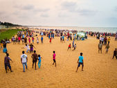 Sinhala New Year's festivities on Negombo Beach. — Stock Photo
