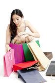 Femme shopping — Photo