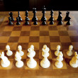 Set of chess figures on the playing board — Stock Photo #28019175