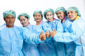 Friendly group of doctors — Stock Photo