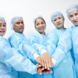 Stock Photo: Friendly group of doctors