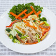 thai food - vegetarian fried noodles — Stock Photo
