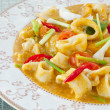 Thai Food Spicy Squid Curry — Stock Photo