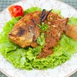 Fried fish-with spicy sauce — Stock Photo