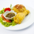 Indian chicken curry with pilau rice. — Stock Photo #28246179
