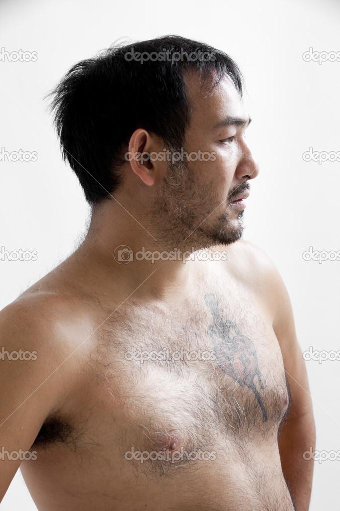 asian naked man