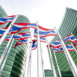 National flags of Thailand — Stock Photo