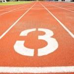Tracks on red field . three — Stock Photo #28446199