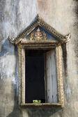 Window of ruin temple,Thailand — Stock Photo