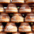 Stock Photo: Many earthen pots