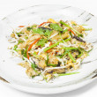 Spicy mixed seafood Thai salad — Stock Photo
