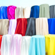 Stock Photo: Colorful fabric samples