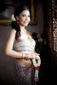 Porträtt av thailändska kvinna — Stockfoto