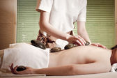 Spa. Stone Massage. Day Spa. Spa Salon — Stock Photo