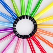 Circle of Colored Pens — Stok fotoğraf