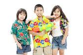 Songkran festival (water festival) — Stock Photo