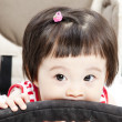 Baby in sitting stroller — Stockfoto