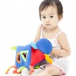 Funny little girl playing — Stock Photo #29329903