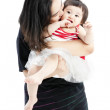 Mother holding sweet baby girl — Stock Photo
