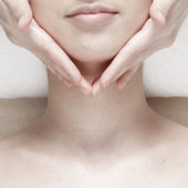 Face massage — Stock Photo