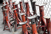 Metal supports — Stock Photo