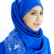 Beautiful Asian Muslim woman smiling — Stock Photo