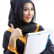 Female Muslim college student — Stock Photo #33094203