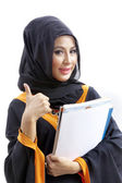 Female Muslim college student — Stock Photo