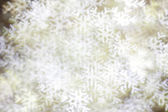 Blurred snowflakes — Stock Photo