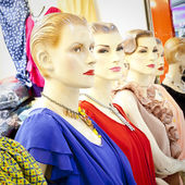 Mannequins in shop — Stock Photo