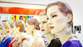 Mannequins in shop — Stockfoto
