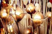 Lampen-Blumendekoration — Stockfoto