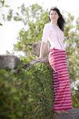 Young burmese woman — Stock Photo