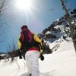 Stock Photo: Snowshoeing in Utah
