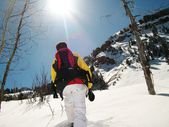 Snowshoeing in Utah — Stock Photo