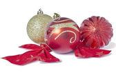 Christmas toys isolated on white background — Stock Photo