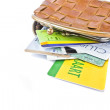 Wallet with credit cards — Stock Photo