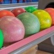 Colored bowling balls — Stock Photo