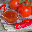 Stock Photo: Ingredients for tomato sauce