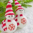 Stock Photo: Merry christmas toy snowman
