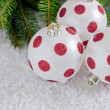 Beautiful christmas the balls — Stock Photo