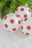 Beautiful christmas the balls — Stock Photo