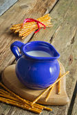 Jug with milk — Stockfoto