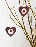 Wooden valentines — Stock Photo